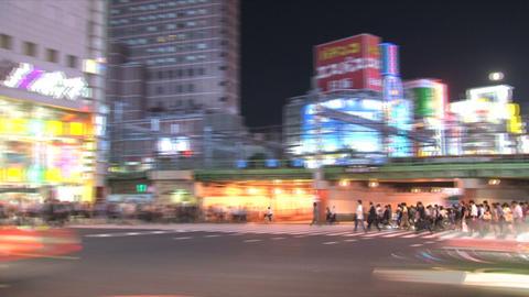 Shinjuku traffic timelapse 04 Stock Video Footage