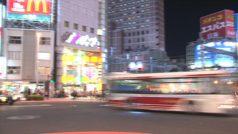 Shinjuku traffic timelapse 04 Footage