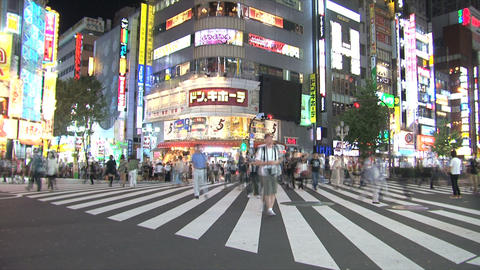 Shinjuku  Traffic  Timelapse stock footage