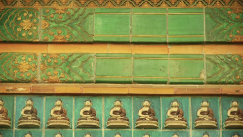 ancient east buddha totem wall Stock Video Footage