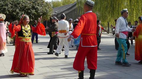 uyghur dancer under sun Footage