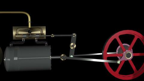 Steam Engine Animation loop HD Stock Video Footage
