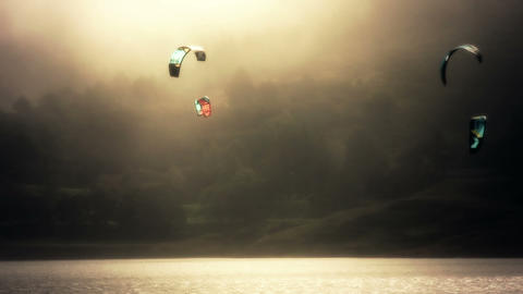 Kite Surf 03 Stock Video Footage