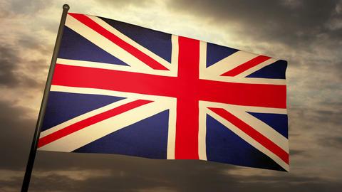 Flag England 05 Stock Video Footage