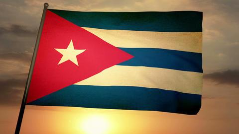 Flag Cuba 05 Animation