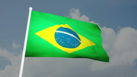 Flag Brazil 03 Stock Video Footage