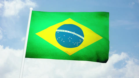 Flag Brazil 03 Animation