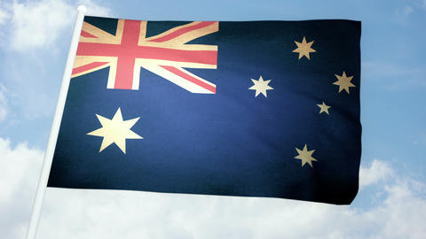 Flag Australia 03 Stock Video Footage