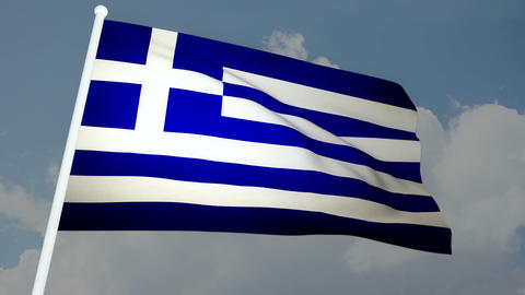 Flag Greece 03 Stock Video Footage