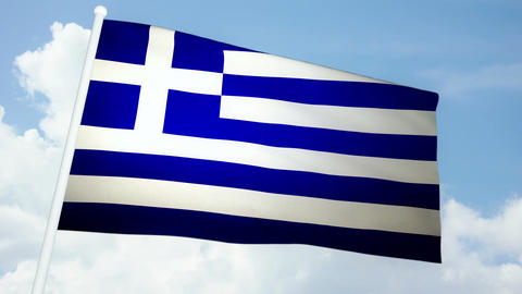 Flag Greece 03 Animation