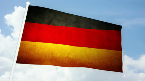 Flag Germany 03 Stock Video Footage