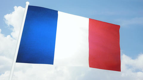 Flag France 03 Stock Video Footage