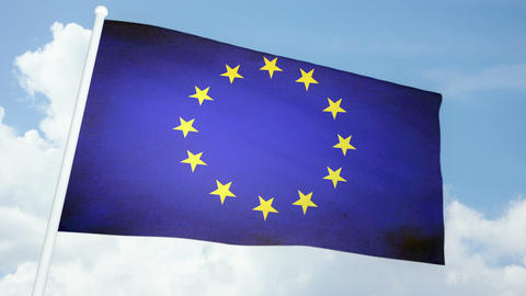 Flag Europe 03 stock footage