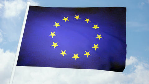 Flag Europe 03 Stock Video Footage