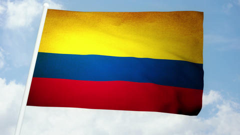 Flag Colombia 03 Stock Video Footage