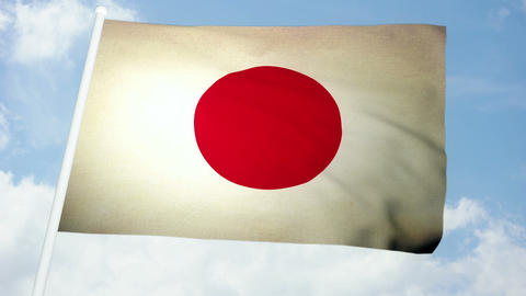 Flag Japan 03 Animation