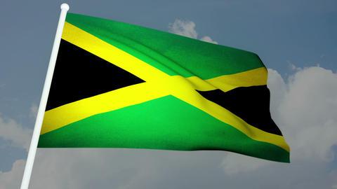 Flag Jamaica 03 Stock Video Footage