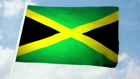 Flag Jamaica 03 Animation