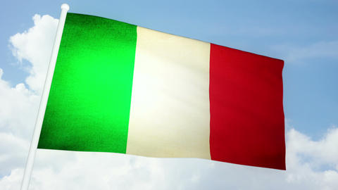 Flag Italy 03 Stock Video Footage