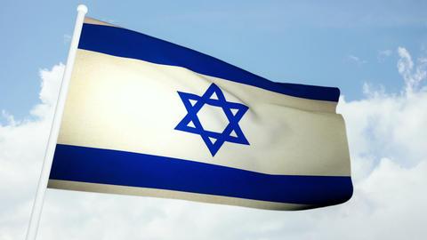 Flag Israel 03 Stock Video Footage