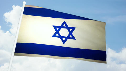 Flag Israel 03 Animation