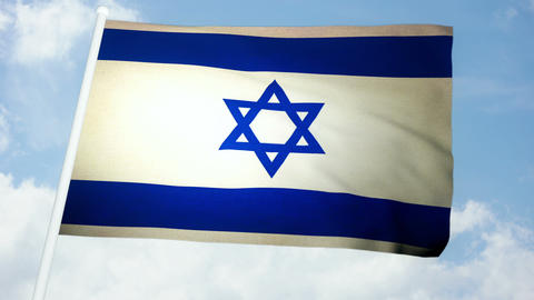 Flag Israel 03 Stock Video Footage