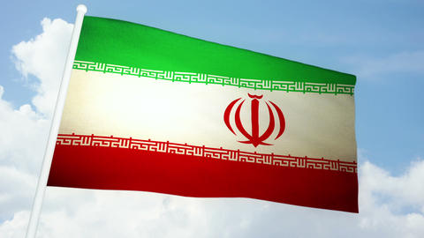 Flag Iran 03 Animation