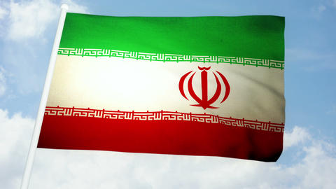 Flag Iran 03 Stock Video Footage