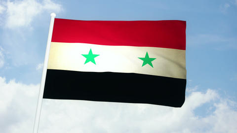 Flag Syria 03 Animation