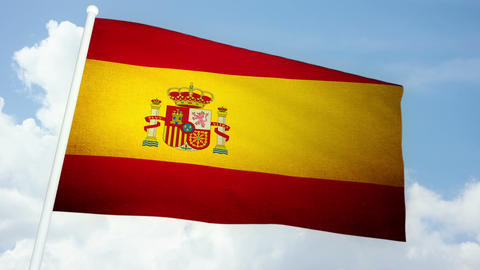 Flag Spain 03 Animation