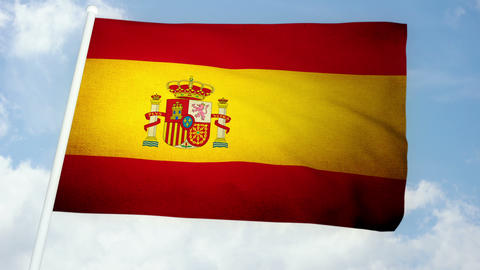 Flag Spain 03 Stock Video Footage