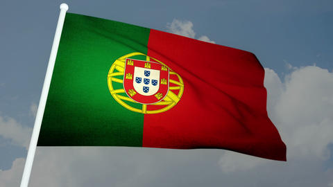 Flag Portugal 03 Stock Video Footage