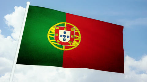 Flag Portugal 03 Animation