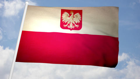 Flag Poland 03 Animation