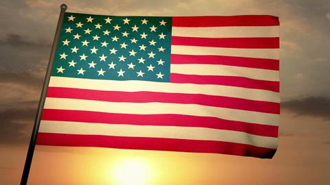 Flag usa 05 Stock Video Footage