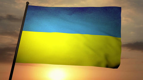 Flag Ukraine 05 Animation