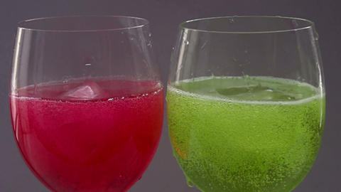 Two Coctails HD Stock Video Footage