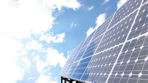 Solar battery 1 Stock Video Footage