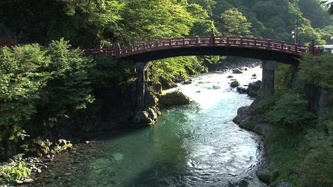 Nikko bridge tilt Stock Video Footage