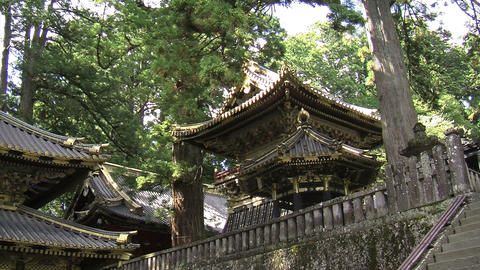 Nikko shrine zoomout Stock Video Footage