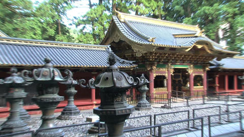 Nikko shrine 02 zoomout Stock Video Footage