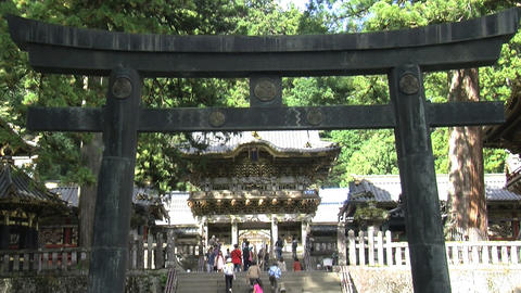 Nikko shrine tilt Footage