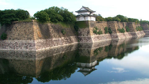 Osaka Castle guard house Footage