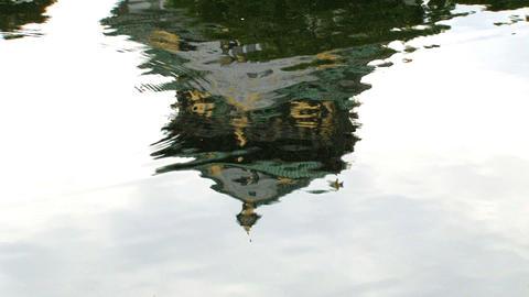 osaka castle waterreflextion Stock Video Footage
