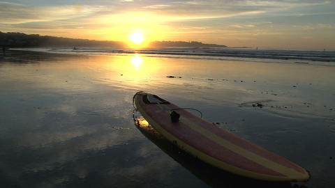 Sunrise surfboard Stock Video Footage