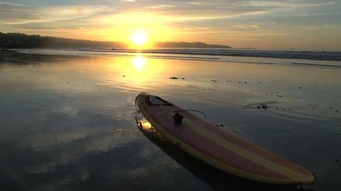 Sunrise surfboard Stock Video Footage