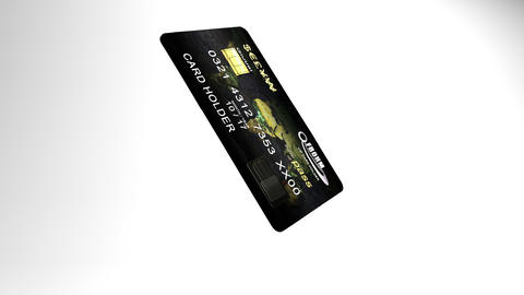 Credit or debit card drops and falls apart Stock Video Footage