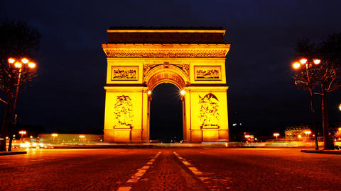 Triumph Arch, Paris. stock footage