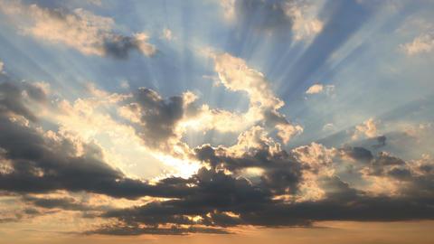 4k beautiful sunset Stock Video Footage