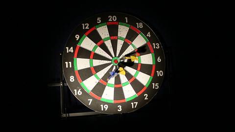 darts 01 Stock Video Footage